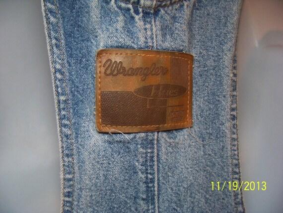 Vintage Wrangler Denim jeans Coveralls Overalls C… - image 5