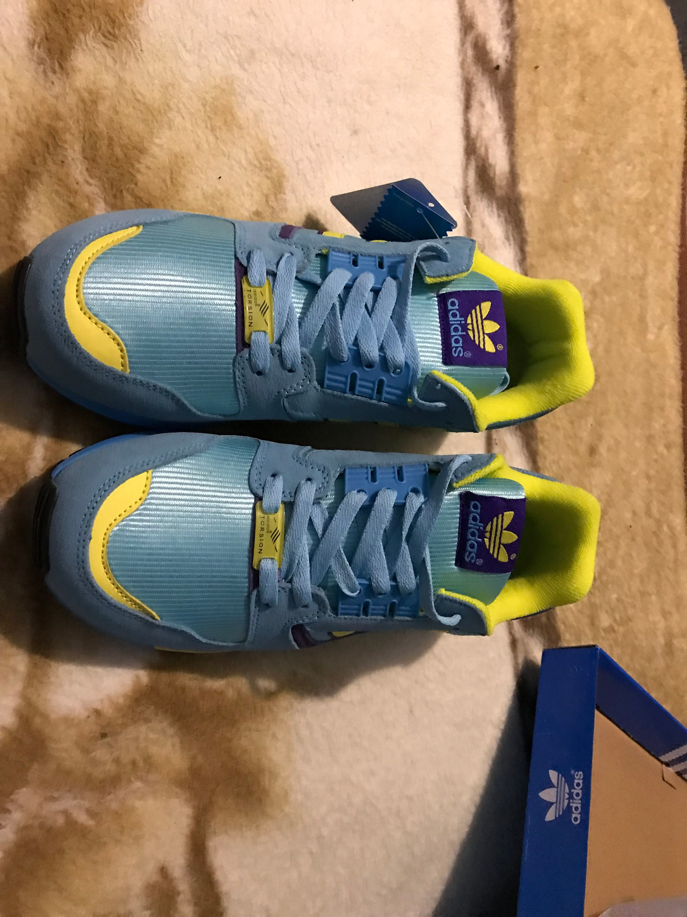 1106b28d51689 Adidas ZX 8000 US 11 yELLOW pURPLE torsion vintage new