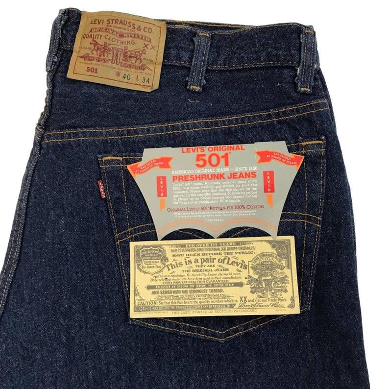 5c72ced3 Dead stock Vintage Levis 501 W40L34 San Fran. PreShrunk . made | Etsy