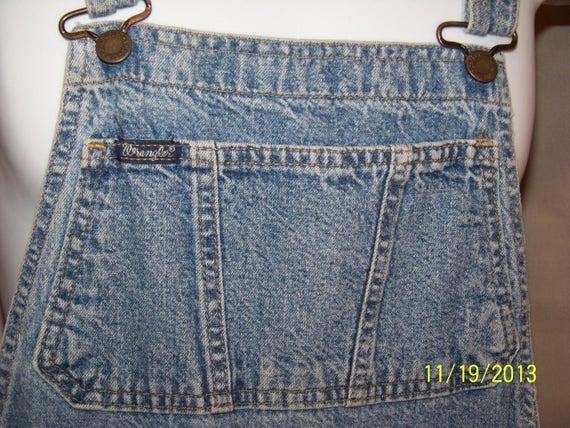 Vintage Wrangler Denim jeans Coveralls Overalls C… - image 6