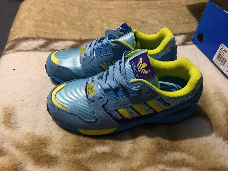 Adidas ZX 8000 , US 7 , yELLOW pURPLE torsion vintage new footwear