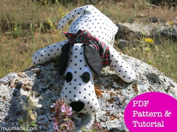 Dog Sewing Pattern Stuffed Animal Pattern Puppy Dalmatian Etsy
