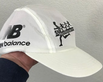 Vintage New Balance White Nylon Logo Panel Snapback Hat Gatorade