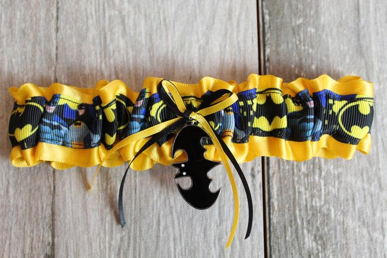 Batman wedding garter
