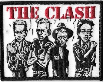 The Clash Cartoon faces Patch
