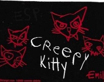 9ba3bf4790 Emily the Strange Creepy Kitty Collectible Vinyl Sticker