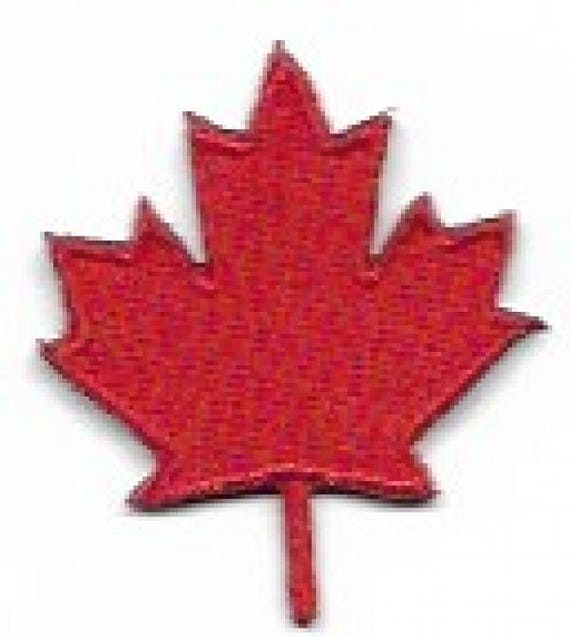 Mini Canada Maple Leaf Embroidered Patch Iron On Applique Etsy