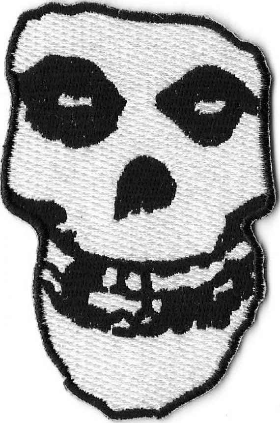 Misfits Skull Crimson Ghost Embroidered Patch Iron On Etsy