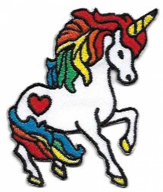 Sew On Fancy Dress Pride Unicorn Rainbow Embroidered Logo Patch Badge Iron On