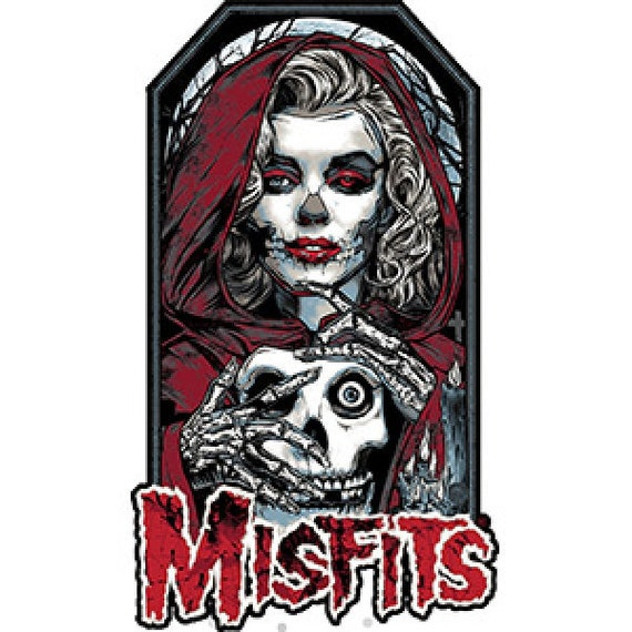 MISFITS PATCH Embroidered Iron On CLASSIC GREEN LOGO Band SKULL FACE NEW