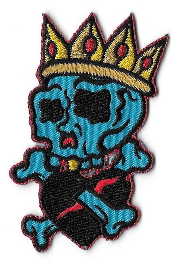 Black Skull Badges Pirate Embroidered Iron on Patch Vampire Cool DIY Appliques
