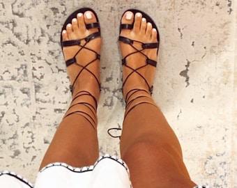Griechische Leder Sandale womens leather sandals AIGINA Leather Sandals slide sandals women Greek sandals ancient Greek sandals