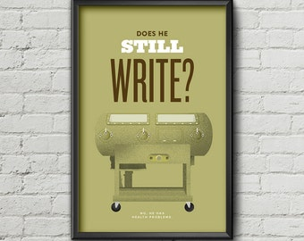 Big Lebowski Poster / Walter / Larry / Iron Lung / Quote / Typography / 11 x 17 / 18 x 24 / 24 x 36