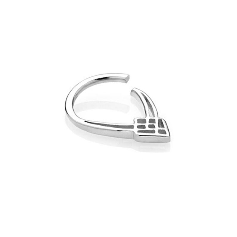 18g Silver Helix Daith Earring Piercing Helix Cartilage Earring Geometric Piercing Rook Piercing Helix Earring Helix Earring Hoop