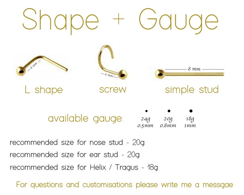 Tragus Earring Cartilage Earring Helix Earring Tragus Earring Gold Tiny Gold Stud Nose Screw Indian Piercing Jewelry Gold Nose Stud
