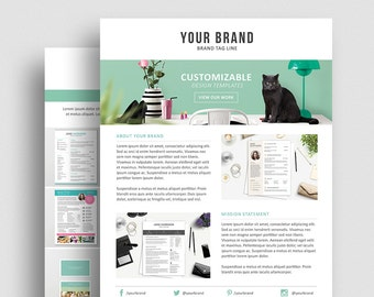 Product Media Kit Template 07 - Press Kit - Pitch kit - Product Price Sheet Template