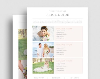 Photography pricing template | Etsy