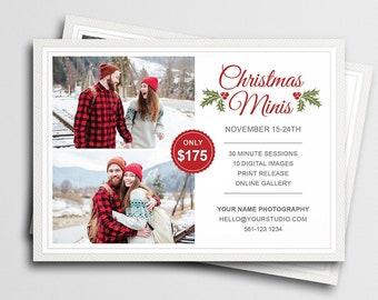 Christmas Mini Session Template for Canva   Photography Marketing Board   Winter Mini Session   Holiday Mini Session   Marketing Template