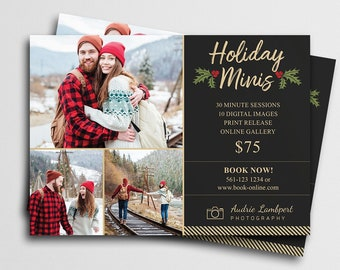 Holiday Mini Session Template for Canva   Photography Marketing Board   Winter Mini Session   Christmas Mini Session   Marketing Template