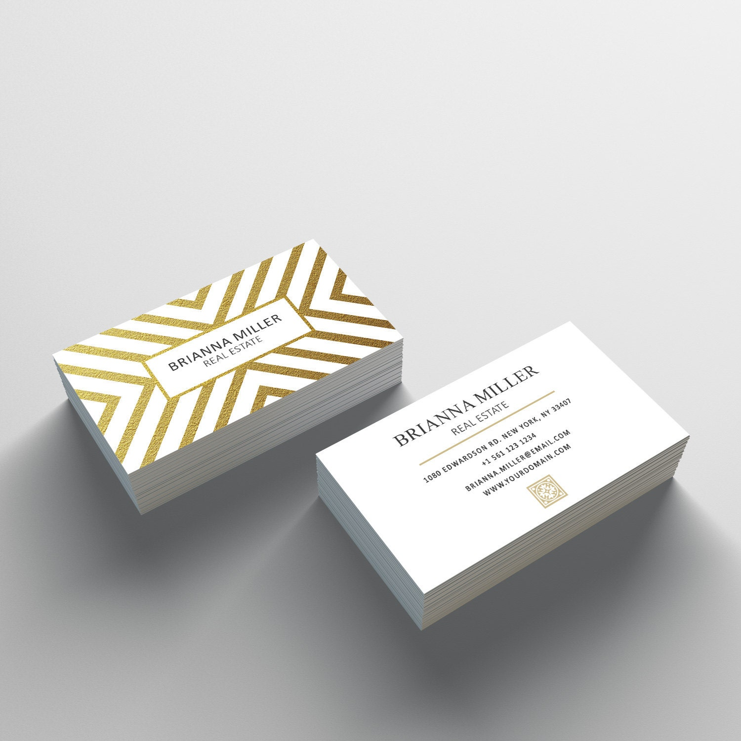 Business Card Template 05 2 Sided Business Card Design Etsy