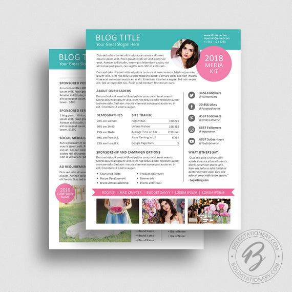 Blog media kit template 01 ad rate sheet template press etsy image 0 maxwellsz