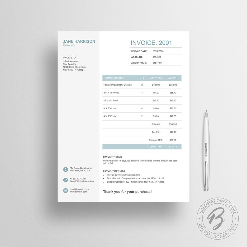 Invoice Template 06  Receipt Template  Invoice Template for image 0