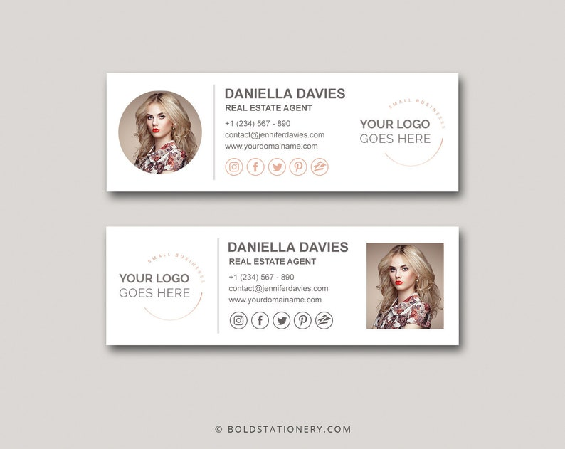 Email Signature Clickable HTML Email Signature Custom Gmail image 0