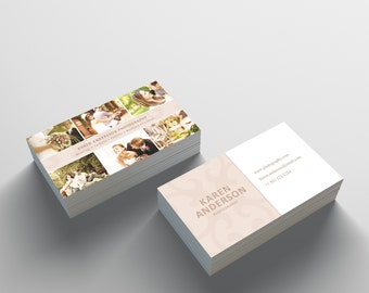 Business Card Template 03 - 2 Sided Business Card Design - Photography Business Card Template - Photographer Photoshop Business Card