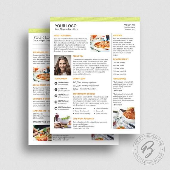 Blog media kit template 02 ad rate sheet template press etsy image 0 maxwellsz