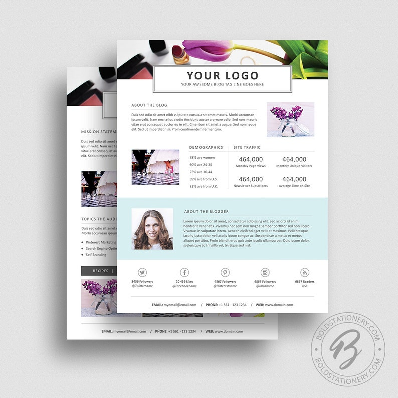 3 Page Media Kit Template 05  Ad Rate Sheet Template  Press image 0