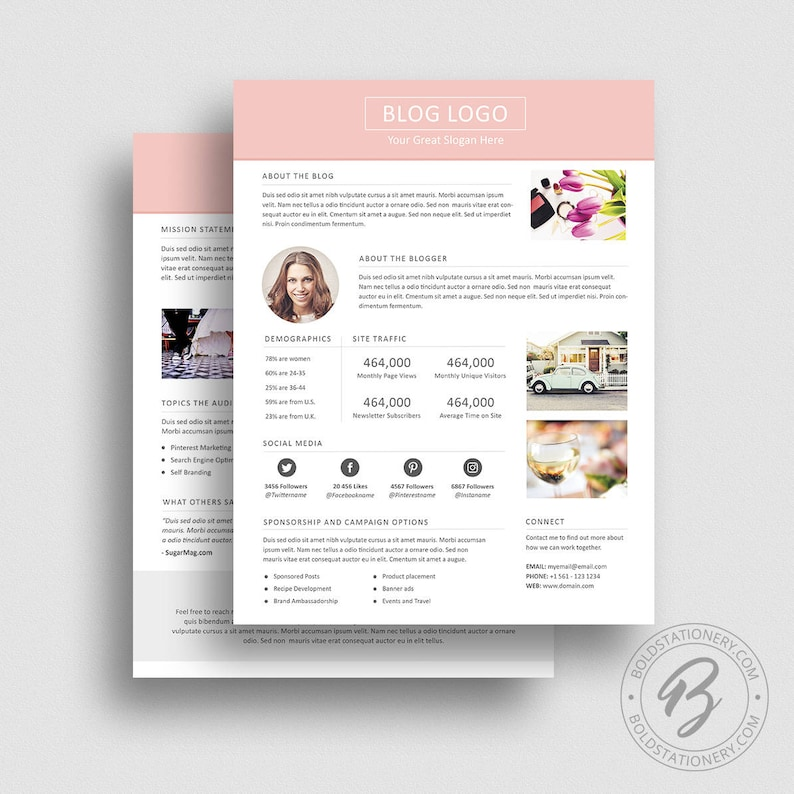 3 Page Media Kit Template 03  Ad Rate Sheet Template  Press image 0