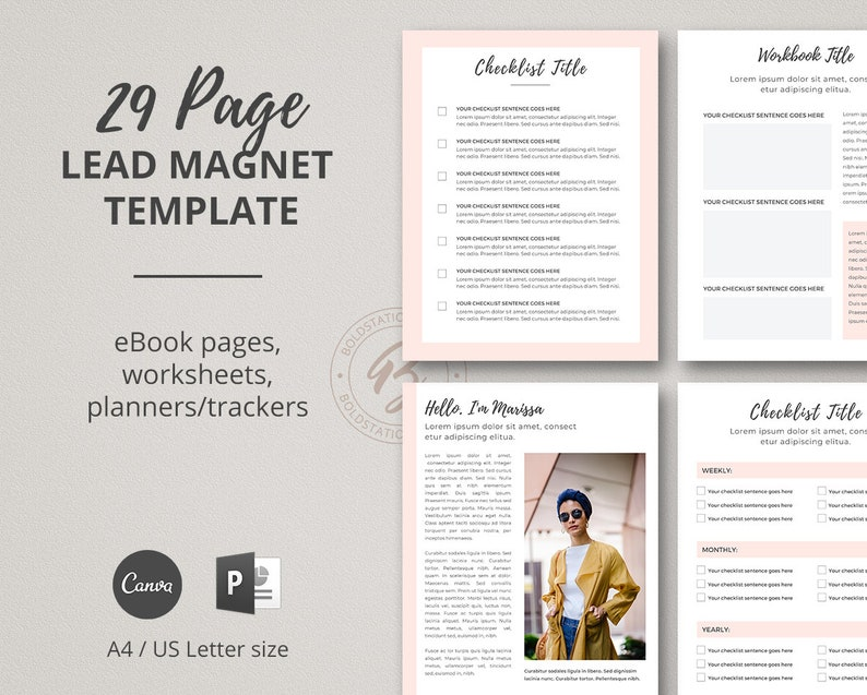 Lead Magnet Template for Canva Opt-in Template for image 0