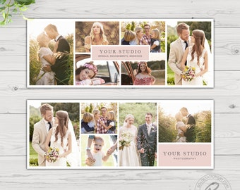 Facebook Cover Template, Collage Facebook Cover Template for Photographers, Facebook Timeline Cover Template Photoshop, Facebook Cover Photo