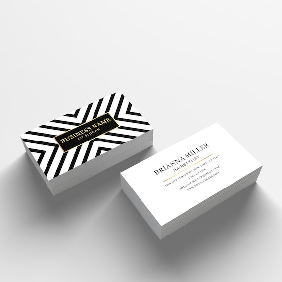 Business card template 04 2 sided business card design etsy image 0 flashek Images