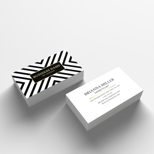Business card template 04 2 sided business card design etsy image 0 wajeb Image collections