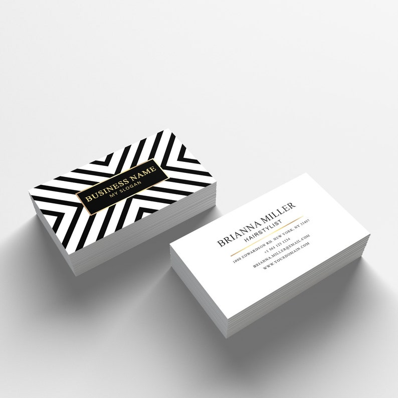 Business Card Template 04  2 Sided Business Card Design  image 0
