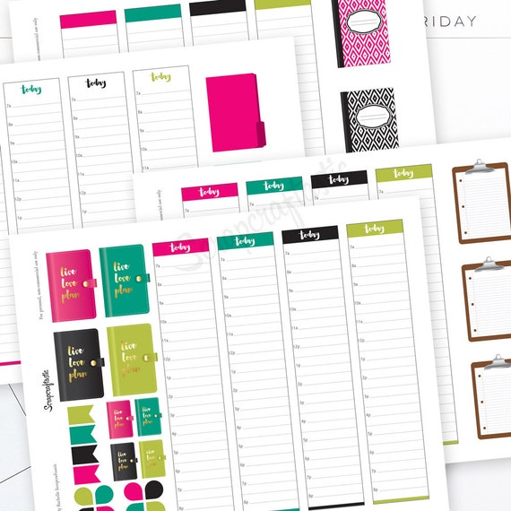 Planner Pro Live Love Plan Daily Schedule Printable Planner Etsy