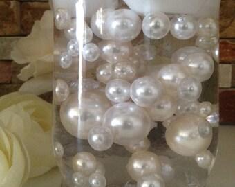 Half Pearl Beads Vase Filler Table Scatter 10mm 2000 pcs  White// Ivory