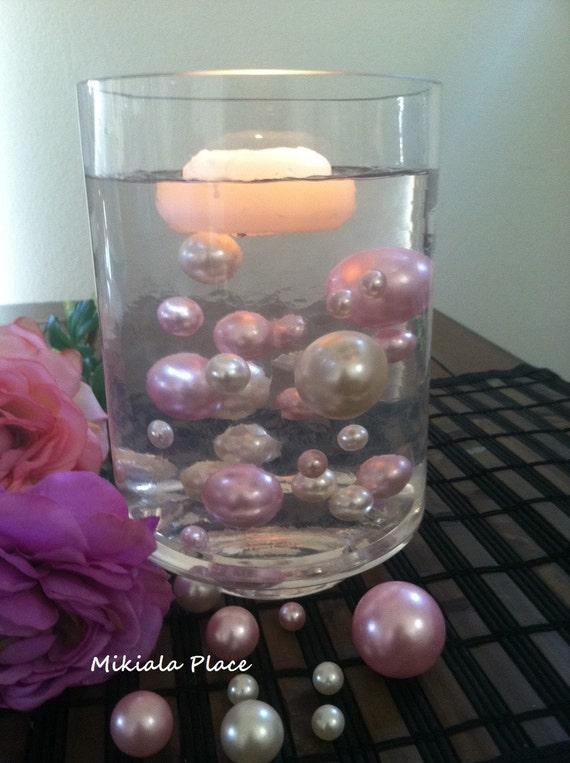 Floating Pearl Vase Filler Jumbo Pearls Ivorylight Baby Pink Etsy