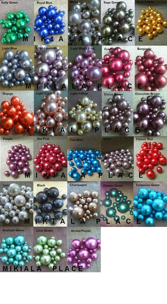 Vase Filler Pearls Perfect For Floating Pearl Centerpieces Etsy