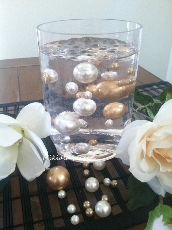 Champagneivory Jumbo Floating Pearls For Vase Fillersholiday Etsy