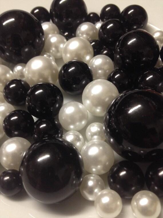 Blackwhite Decorative Jumbo Pearls Vase Filler Mix Table Etsy
