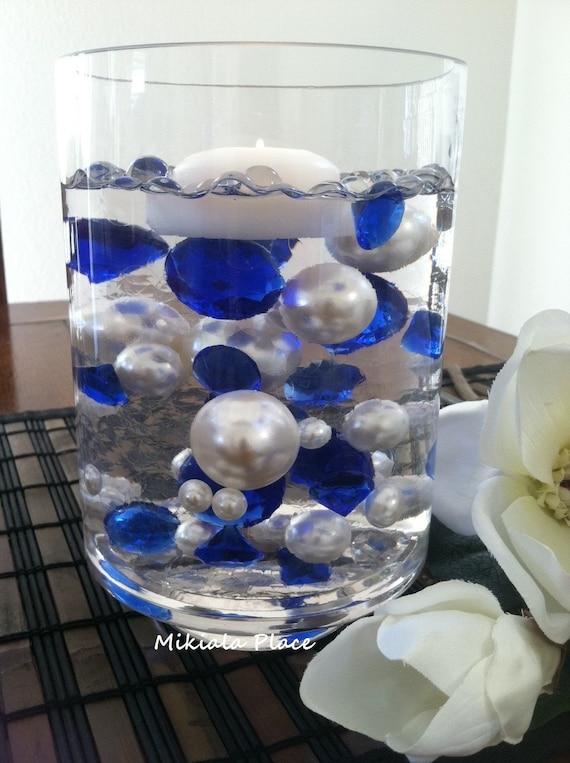 Diy 50pc Floating Jumbo Diamond Jumbo Pearl Vase Fillers Etsy