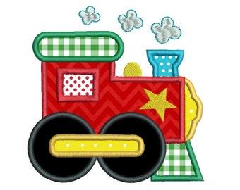 Train Applique Etsy