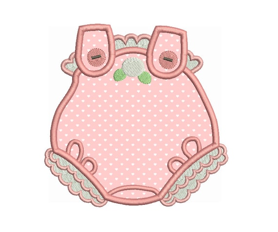 Baby Romper Suit Applique Embroidery Design Baby Clothes Etsy