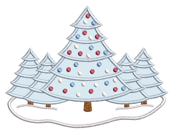 Christmas Designs.Christmas Tree Embroidery Applique Design Christmas Decoration Xmas Tree Snow Machine Embroidery 2 Sizes Instant Download Sa502 12