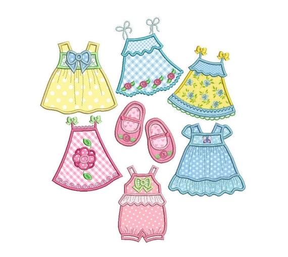 Cute Baby Dress Set Applique Machine Embroidery Designs Set Etsy