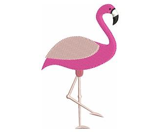 Pink Flamingo Machine Embroidery Design, Fill Stitch Flamingo, Pretty Flamingo, Cute Bird, 4x4, 5x7, 6x10, Instant Download, S547-2