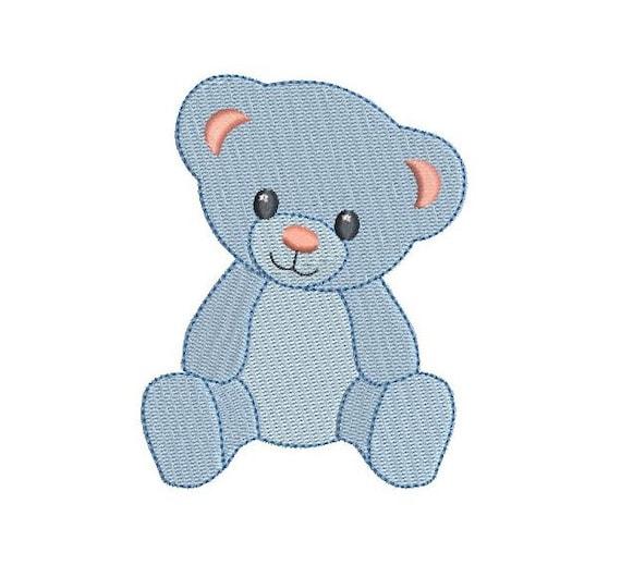 5095dc07df3 Mini Teddy Bear Machine Embroidery Design Fill Stitch Mini