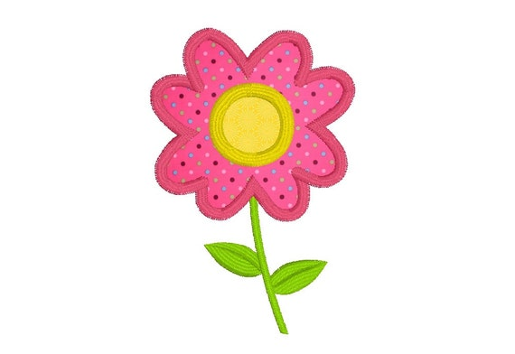 Floral applique machine embroidery design mother s day etsy